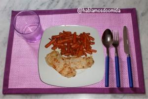Zanahorias baby con queso azul
